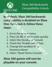 The XBOX One compatibility hack for 360 games is a fake. Don't do it.