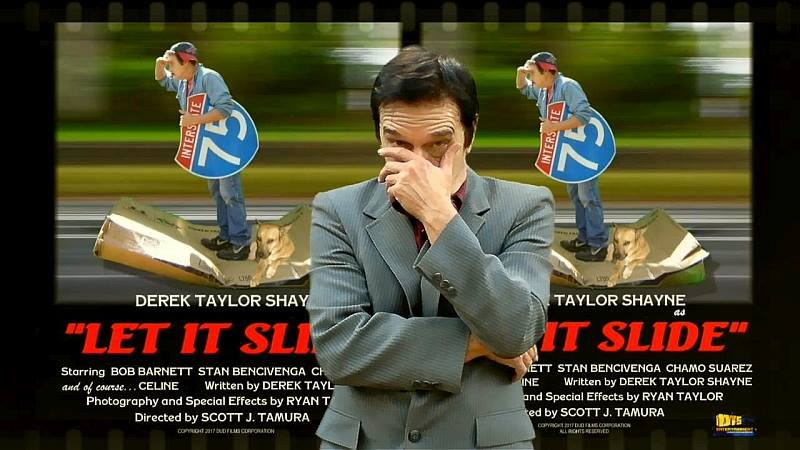 """Lobby Card for the DTS Entertainment Comedy Film, """"Let It Slide"""""""