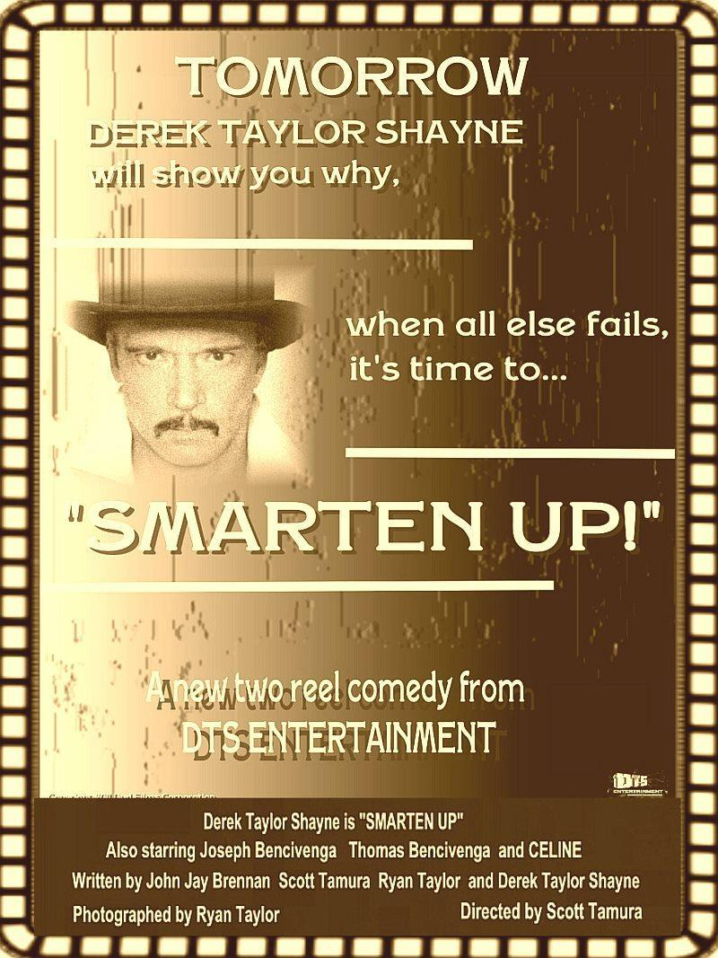 """Poster for the DTS Entertainment Comedy Film, """"Smarten Up!"""""""