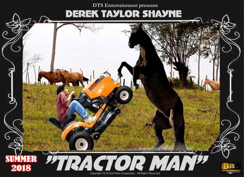 """Lobby Card for the DTS Entertainment Comedy Film, """"Tractor Man"""""""
