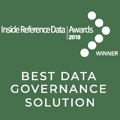 Best Data Governance Solution - Inside Reference Data Awards 2018