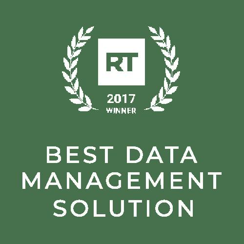 Best Data Management Solution - RT Awards 2017