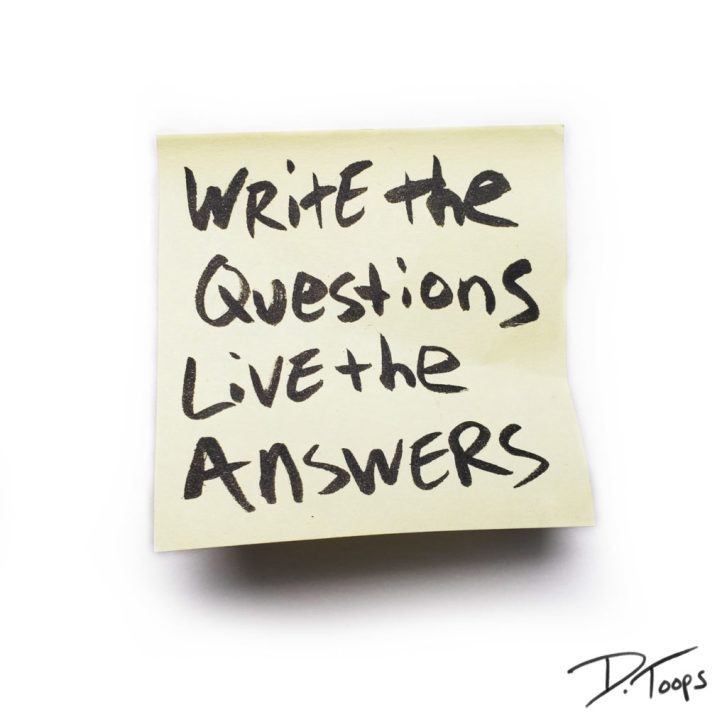 write the questions live the answers