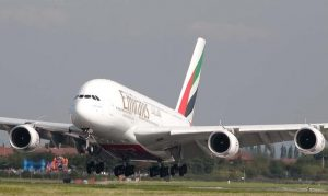 Emirates A380 to Moscow