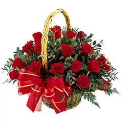 15 red roses basket is best bridge to heart