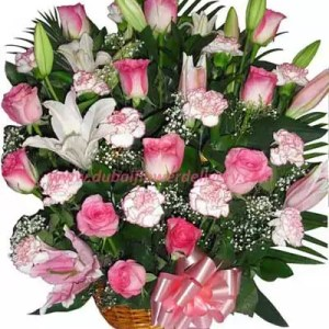 Send pink flowers dubai by going for Pristine Pink