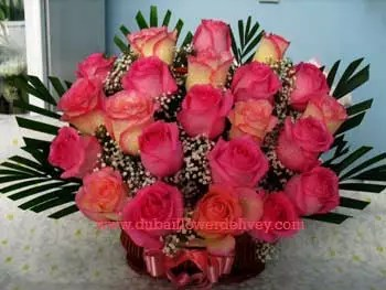 Double Tone 20 Pink Roses