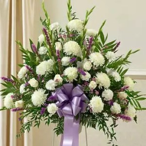 white lavender flowers 4 feet stand for delivery in Dubai