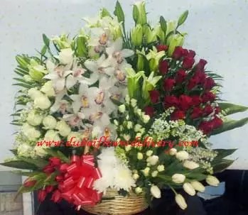 big basket of flowers in Dubai