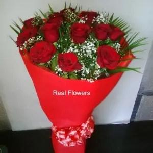 valentine's 12 red roses