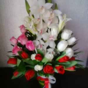 orchids tulips roses lilies-Glance of Grace premium flowers
