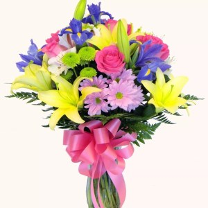 mix flower vase delivery Dubai