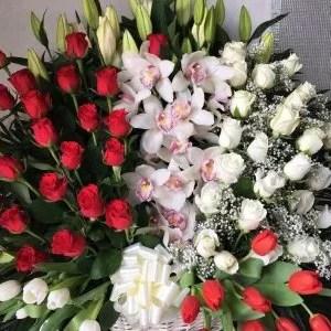 big basket flowers Dubai