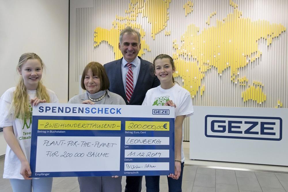 GEZE Donates 200,000 Trees