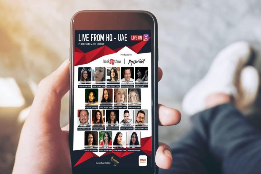 THE VIRTUAL STAGE IS SET AS 'LIVE FROM HQ' BY BOOK MY SHOW AND BIG BAD WOLF EXPANDS TO SHINE SPOTLIGHT ON HOME GROWN UAE TALENT