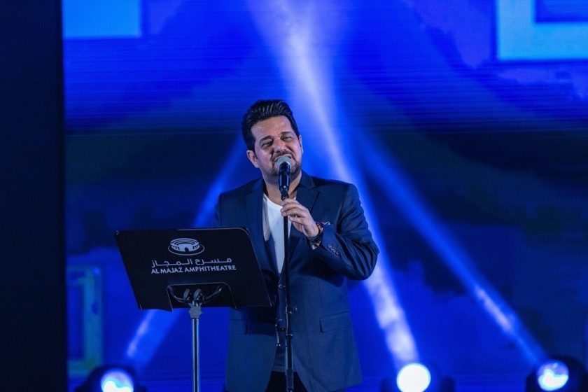 Hatem Al Iraqi's live performance in Al Majaz Amphitheatre Hatem Al Iraqi's live performance in Al Majaz Amphitheatre draws 42K online views overnight