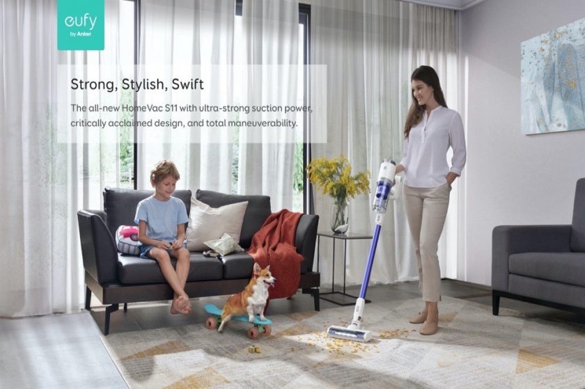 Clean easy with eufy HomeVac S11 Go Stick Vacuum Lightweight, Strong, Stylish and Swift