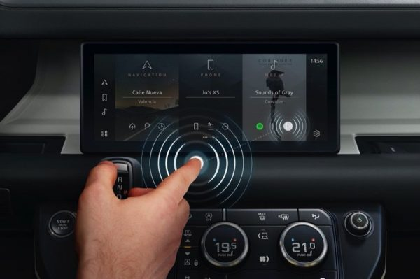 JAGUAR LAND ROVER DEVELOPS CONTACTLESS TOUCHSCREEN