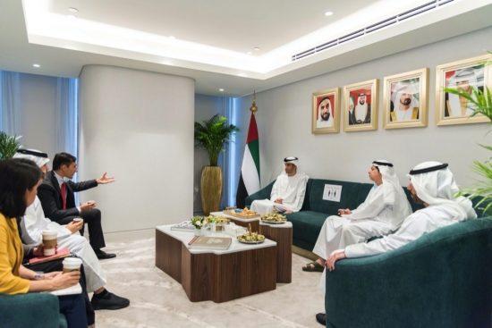 Al Zeyoudi visits Etihad Credit Insurance office