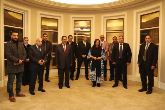 Bodour Al Qasimi meets members of the Arab and Egyptian