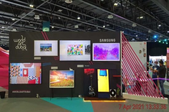 Samsung showcases art through popular tech innovations