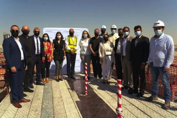 Ellington Properties celebrates topping out