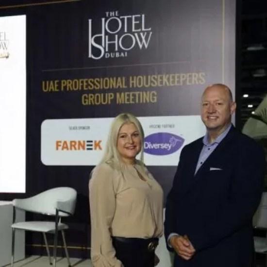 خبراء شركة فارنك يخاطبون مندوبي معرض الفنادق 2021 في دبي
