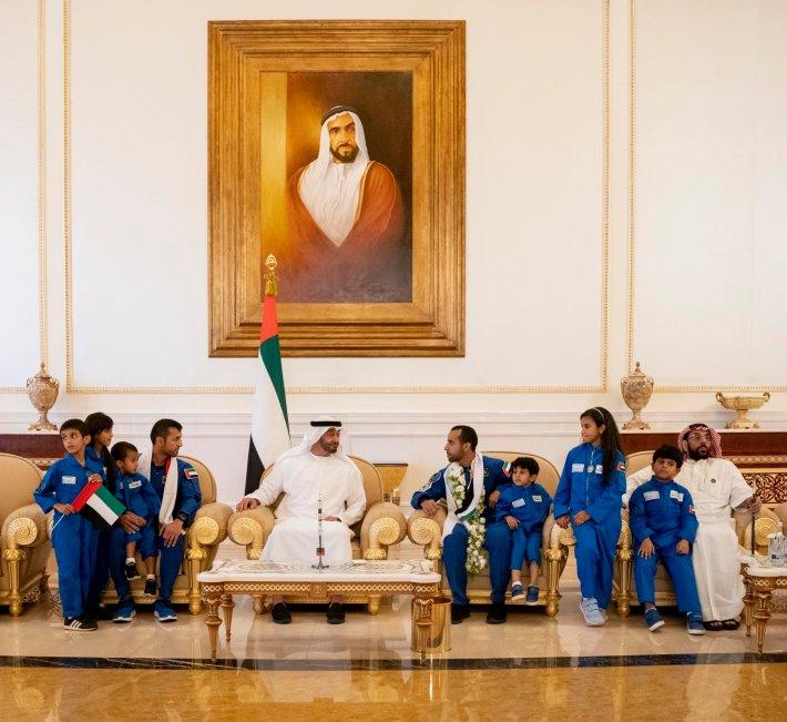 Hazza Al Mansoori UAE Welcome Mohamed Bin Zayed