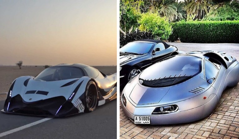 UAE Most outrageous vehicles Hamad bin Hamdan Al Nahyan Batmobile Jeep Wrangler SUV Rolls Royce Coin Coined Range Rover Diamond Mercedes White Gold Gold Nissan GTR