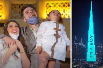 Dubai influencers project baby's gender reveal on to Burj Khalifa, world's tallest tower