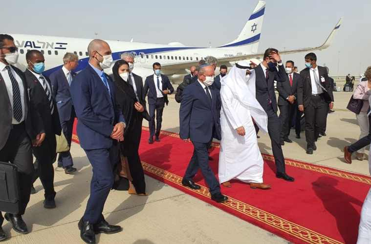 The first commercial flight from Israel arrives in the UAE