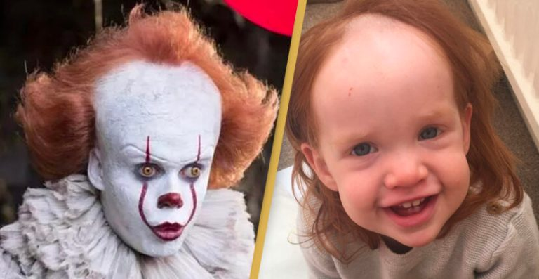Little girl left looks 'like Pennywise' after accidentally using hair removal cream