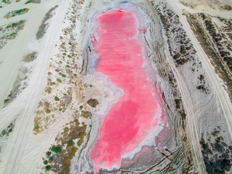 Rare pink lake discovered in Ras Al Khaimah