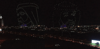 Video: 300 drones draw pictures of UAE leaders; set world record