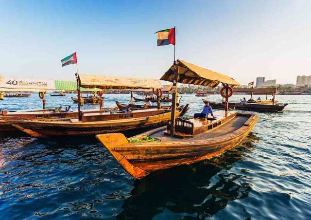 Traditional abra in Dubai Creek