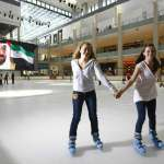ice skating rink in dubai mall