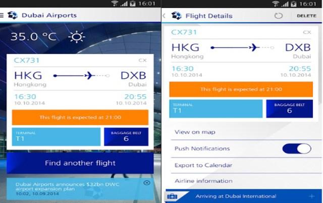Dubai Airports App Image New