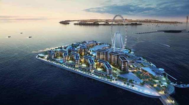 Location of Ain Dubai or Dubai Eye Ferris wheel on Blue water island