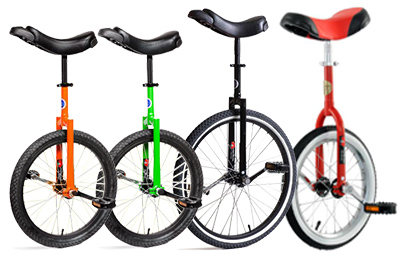 Image result for bicycles and unicycles