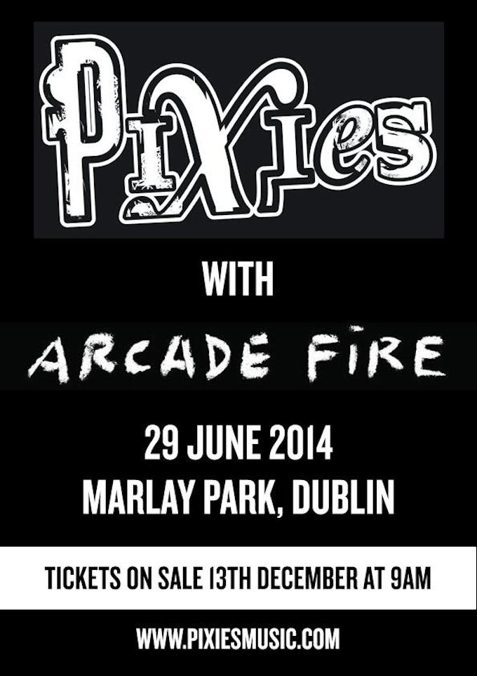 Arcade Fire and Pixies play Marlay Park in Dublin