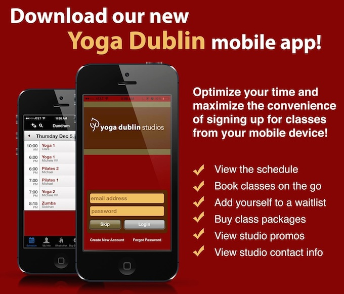 Download the Yoga Dublin Studios app