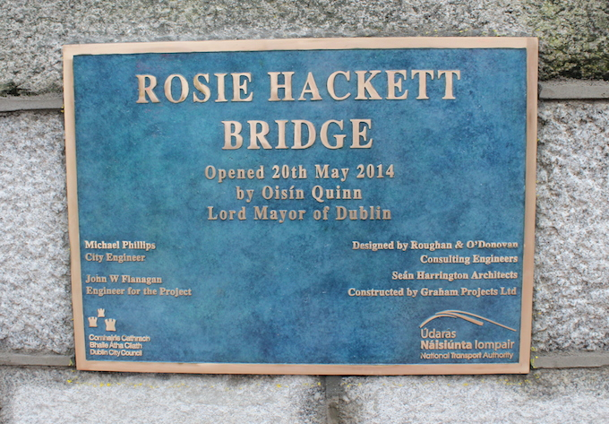 Rosie Hackett Bridge opens in Dublin