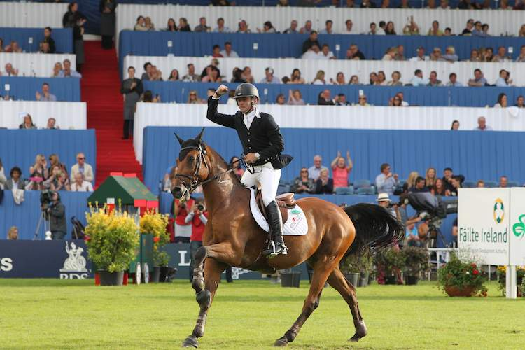 Action from the Dublin Horse Show