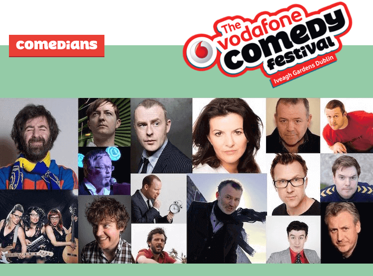 Some of the comedians at Vodafone Comedy Festival 2015