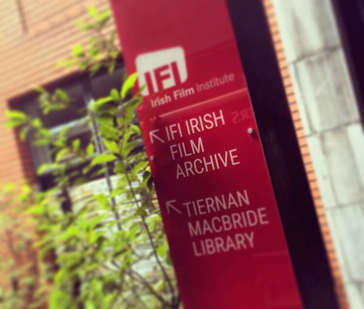 IFI Irish film Archive signage