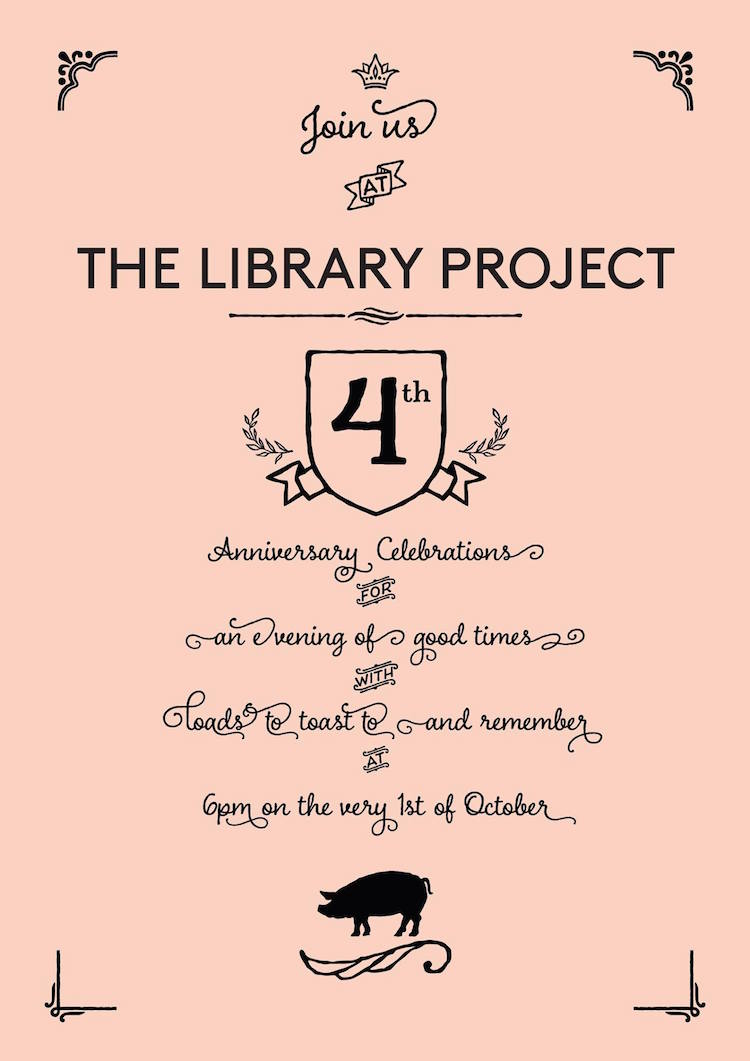 The Library Project in Temple Bar 4th Birthday poster