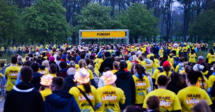 Darkness Into Light finish line
