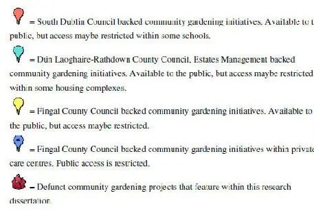 Markers for County councils back initiatives and defunct gardens
