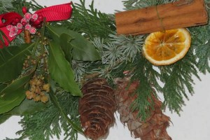 Christmas Wreath materials