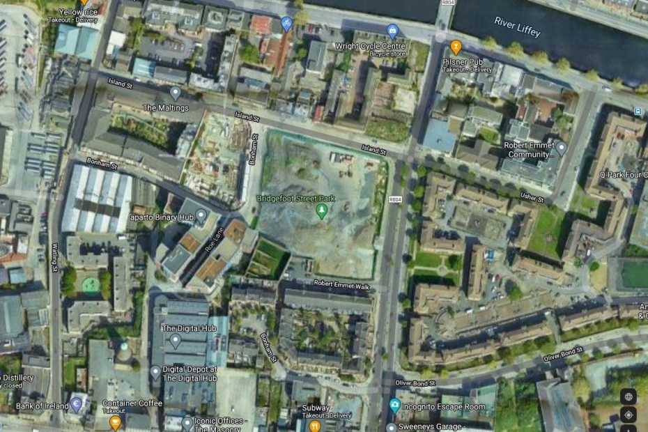 Bridgefoot Park Google Map